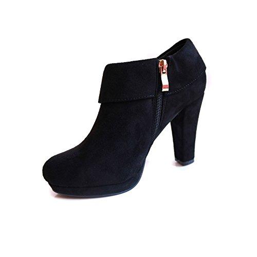 Low boots simili daim Noir - T40