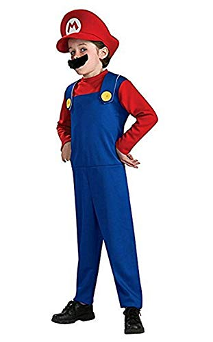 YONCHE Super Costume Adults Kids Cosplay Costume Brothers Halloween Cosplay Costume -