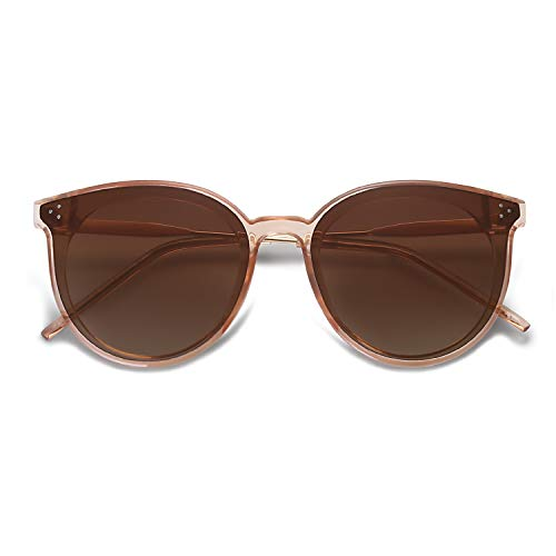 SOJOS Designer Round Sunglasses for Women Oversized