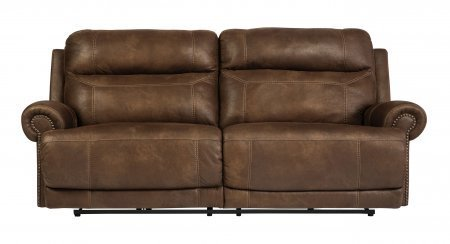 Signature Design by Ashley Austere 2 Seat Reclining Power Sofa, Brown
