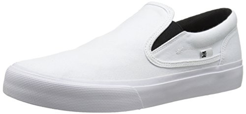 US Men's DC Shoe Skate 10 TX White M U White On Slip Trase PwxZFw1q