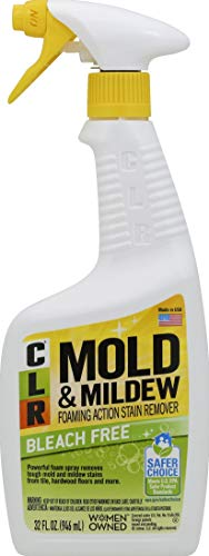CLR Mold & Mildew Stain Remover, Bleach-Free, Spray Bottle, 32 Ounce (Mildew Remover Bleach Without)