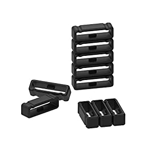 10 Pack Replacement Fastener Ring for Garmin Fenix 3 / Fenix 3 HR/Fenix 3 Sapphire/Fenix 5X / Fenix 5X Plus/Descent Mk1 / Quatix 3 / Tactix Bravo Silicone Band Keeper Security Loop