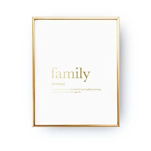 Family Definition Print, Real Gold Foil Print, Family Print, Quote Print, Family Wall Art, Home Decor, Typography Print, Quote Wall Art,