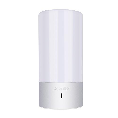 Albrillo LED Farbwechsel Lampe mit Berührungssensor Tischdeko Stimmungslicht Atmosphäre-Licht RGB+Warmweiß