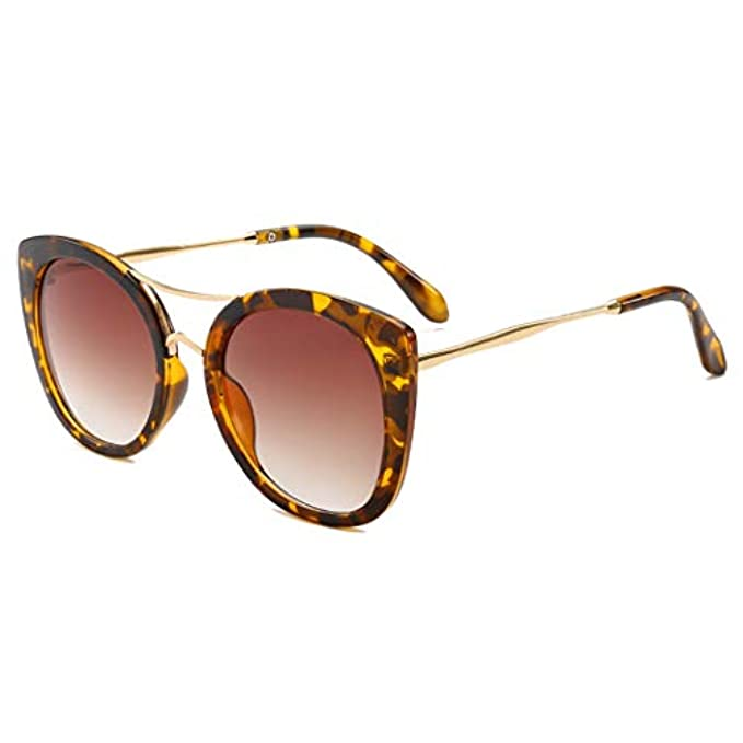 Design Femminile Moda Retro Frame Colorful nbsp; Cat Leopard Sole Brand Clear Gradiente Eyewear Uv400 Guotaieup Eye nbsp; Rotonda Da Occhiali Donne nbsp;5