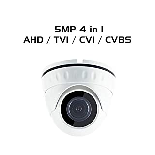 Ares Vision 5MP (1920P) 4 in 1 AHD/TVI/CVI/Analog Dome Fixed 2.8mm Wide Angle Lens Camera, Indoor/Outdoor w/IR Night Vision