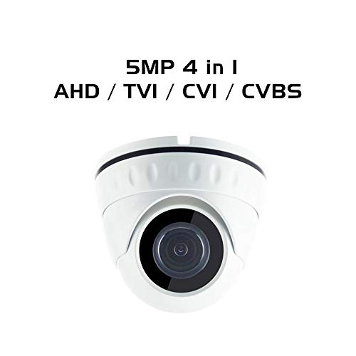Ares Vision 4 in 1 AHD/TVI/CVI/Analog Dome Camera w/IR Night Vision (5 Mega Pixel, Fixed Lens)