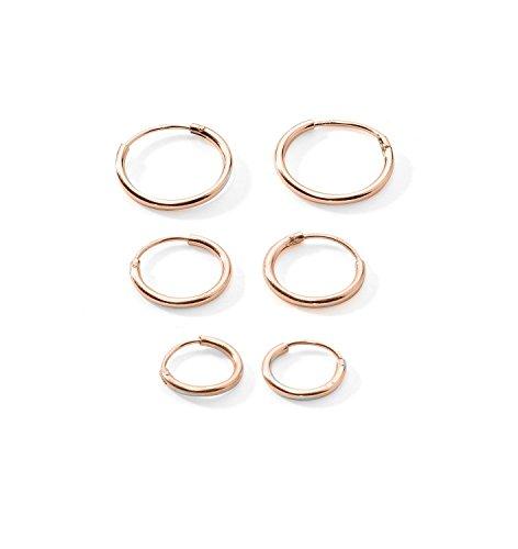 3 Pairs Cartilage Sterling Endless Earrings