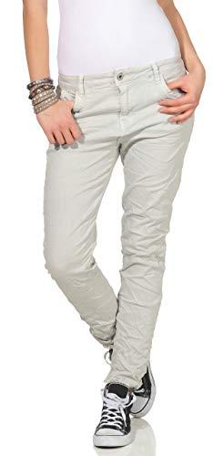19 Baggy Chino Clair Pour Taille Jeans Pantalon Boyfriend Gris Femmes Karostar Basse AzwH6xAq