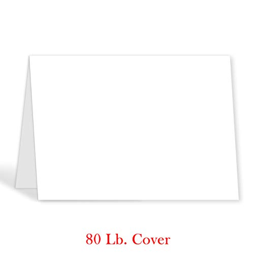Greeting Cards - 5x7 Inches Heavyweight Blank White