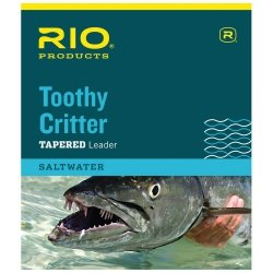 Toothy Critter Leader - RIO Products Leaders Toothy Critter II 7.5' 20Lb Class 20Lb Knottable Wire, Clear
