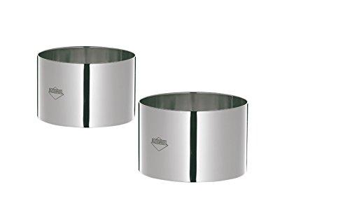 Kuchenprofi K0905052804 4-Piece 3-Inch Stainles Steel Food prep/Plating/Forming Rings, 3