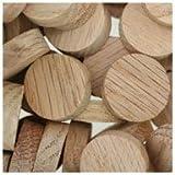 WIDGETCO 3/4'' Oak Wood Plugs, Face Grain