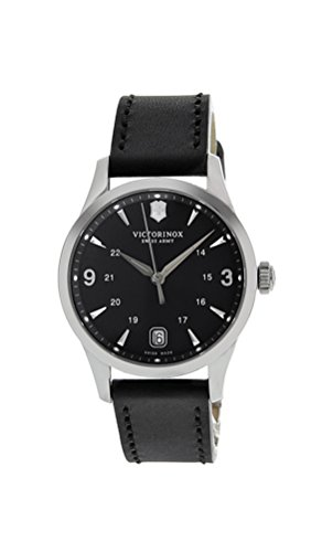 Swiss Made Pocket Watch (Swiss Army 241542 Women's Alliance Black Dial Black Leather Strap Swiss Watch)