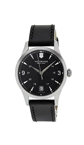 Swiss Army 241542 Women's Alliance Black Dial Black Leather Strap Swiss Watch