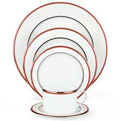Kate Spade Library Lane Coral 5-piece Dinnerware Set