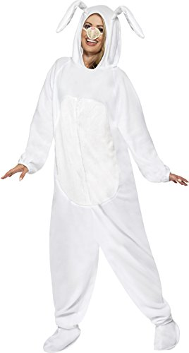 White Rabbit Costume Ladies (Smiffy's Women's Rabbit Costume, White, Medium)