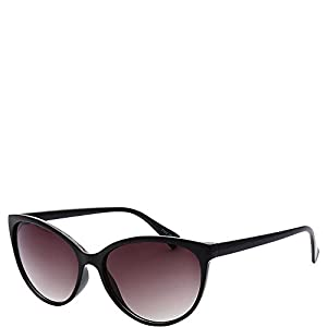 SW Global Womens Minneapolis Cateye Retro Square Sunglasses (Black)