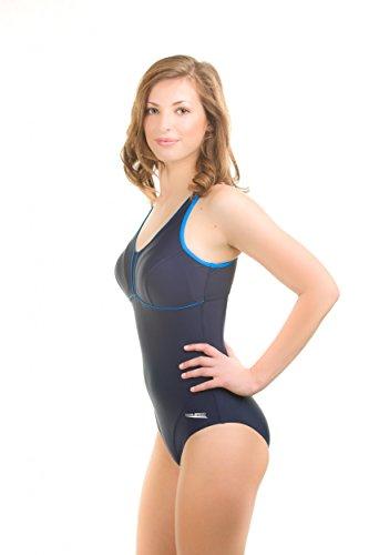 Aqua Speed Matylda Bañador una pieza, acolchada, Newport tela premium, Sport respaldo Azul - Matylda / navy/blau