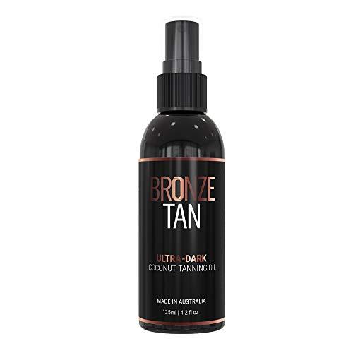 (Bronze Tan Ultra-Dark Coconut Tanning Oil For A Natural, Sexy, and Streak-Free Tan (125 ML / 4.2 fl oz))