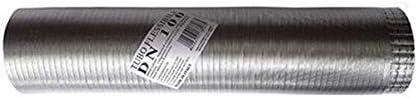 tubo de humos flexibles extensible aluminio natural 120 mm de 1 a 3 mt