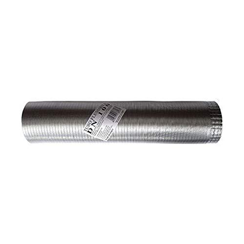 Tubo fumi flessibile estensibile alluminio naturale 150 mm da 1 a 3 mt
