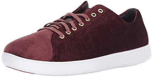 Cole Haan Women's Grand Crosscourt II Sneaker, Mocha Mousse Velvet, 8.5 B US