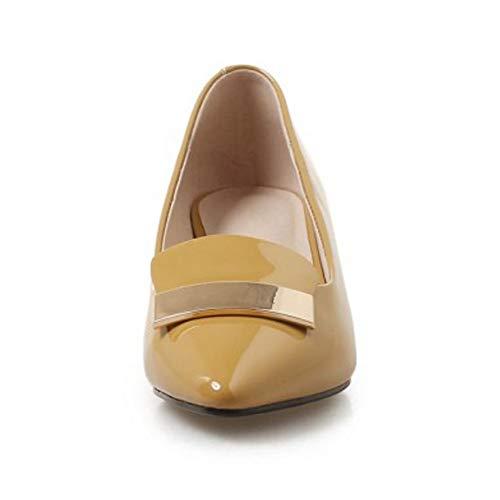Jaune Coolcept Mode Chaussures Enfiler Heels A Femmes wRxFBS