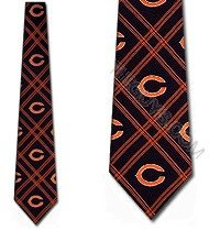 Eagles Wings Chicago Bears Woven Polyester Tie - Chicago Bears One Size