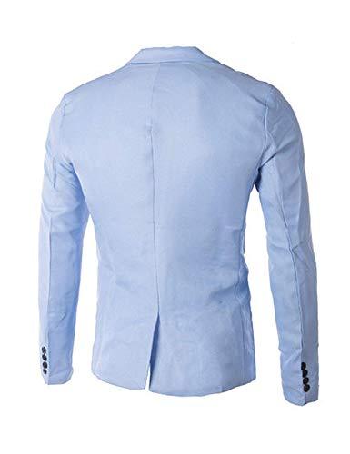 Blanc De Blazer Business Loisirs Longues Costume Mode Revers Survêtement Hommes Essentiel Manches Veste Bouton Fit Casual Slim aPqdP