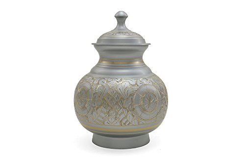Near & Dear Pet Memorials 70 Cubic Inch Engraved Pet Cremation Urn, Large, Silver by Near & Dear Pet Memorials