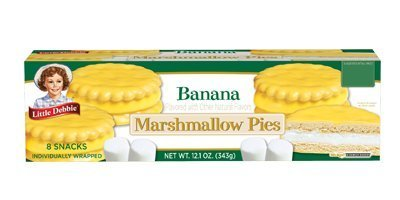 Little Debbie Banana Marshmallow Pies 12.1 Oz (16 Boxes)