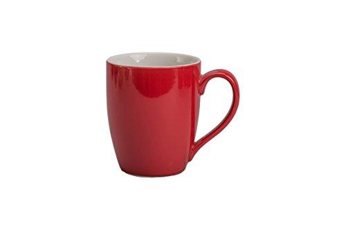 Bistro Mug Two Tone (BIA Cordon Bleu Seasons 16-Ounce Bistro Mug, Set of 4, Red/White)