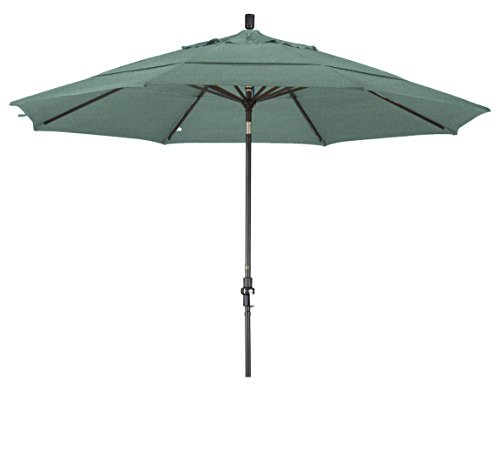 (Eclipse Collection 11' Aluminum Market Umbrella Collar Tilt DV Bronze/Sunbrella/Spectrum Mist)