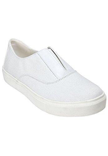 Confortview Femmes Large Maisy Sneaker Cv Sport Blanc