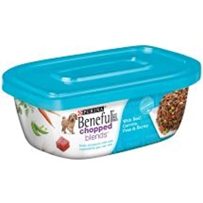 6 Tubs of Purina Beneful Chopped Blends with Beef, Carrots, Peas & Barley Wet Dog Food, 10 Oz ea