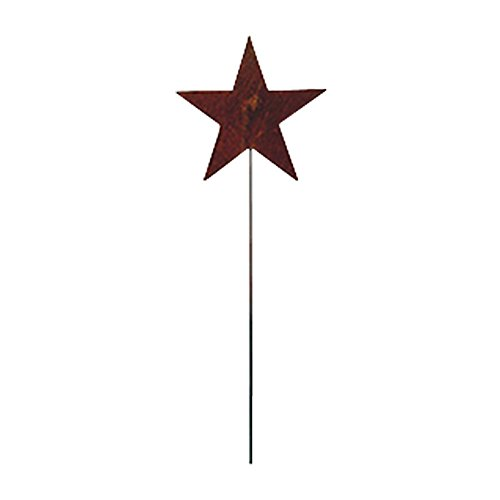 Rusted Garden Stake - RGS-45 Star Rusted Garden Stake