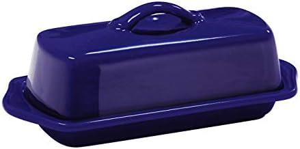 Chantal 93-TVBD-1 BL フルサイズ セラミックバターディッシュ 8.5インチ コバルトブルー