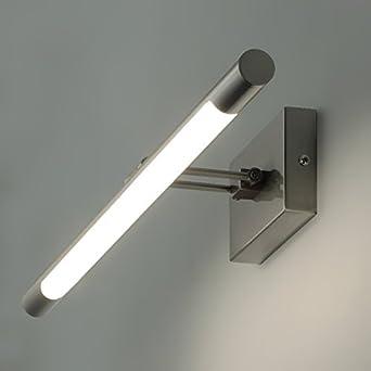KWAZAR® VERA-8 40cm 8W LED Spiegelleuchte Bilderleuchte Schranklampe Wandleuchte aus Aluminum silber, warmweiß IP20, Badezimmerlampe Badlampe Spiegel Wand Schminklicht (Kupfer) [Energieklasse A+] warmweiß IP20 Kwazar Leuchte