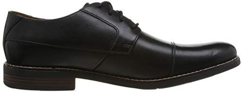 Uomo Nero Derby Cap Leather black Scarpe Becken Stringate Clarks XgHvwTnRX