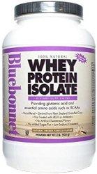 Bluebonnet Nutrition 100% naturel isolat protéique de lactosérum en poudre Vanille française Flavor 2 LB