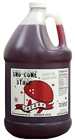 Cherry, Grape, Lemon Lime, Orange Snow Cone & Shave Ice Syrup-4/1 Gallons W/pumps