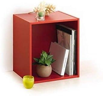 HOMEA 6ran697gc cubo portaoggetti con nicchia Pannelli di Particelle Grigio imbiancato 34,4/x 29,5/x 34,4/cm