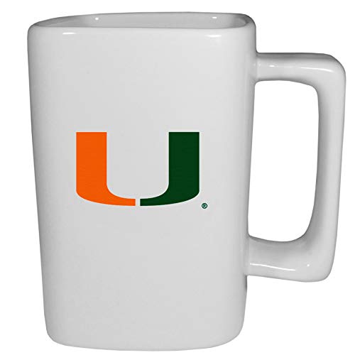 Siskiyou NCAA Miami Hurricanes Unisex Sportswhite Coffee Mug, 14 oz, White, One Size ()