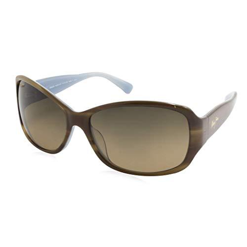Maui Jim Sunglasses | Women's | Nalani HS295-03T | Tortoise with White and Blue Fashion Frame, Polarized HCL Bronze Lenses, with Patented PolarizedPlus2 Lens Technology