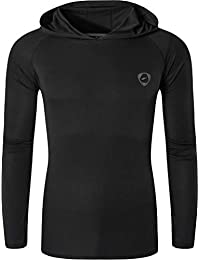 jeansian Men's UPF 50+ Sun Protection Hoodie Long Sleeve Performance Hiking Running Fishing T-Shirt Tee Shirt Tshirt LA271