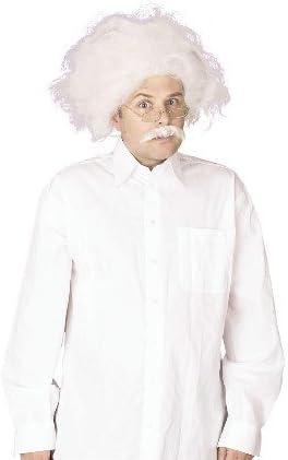 EINSTEIN WHITE WIG MAD PROFESSOR FANCY DRESS ACCESSORY