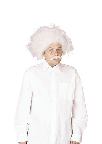 Albert Einstein Mad Professor Male Fancy Dress Wig - White by Parties Unwrapped
