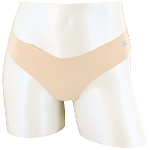 Adidas Thongs - adidas Women's Seamless Hipster Underwear (1-Pack), Light Nude/Matte Silver, Large